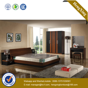 MDF Wooden Modern Living Room Apartment Double Hotel Bedroom Furniture