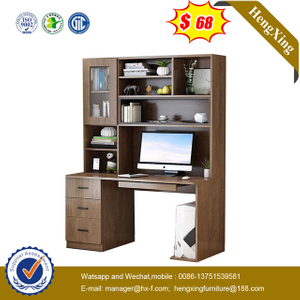 modern office home furniture liivng room study table computer desk with bookcase