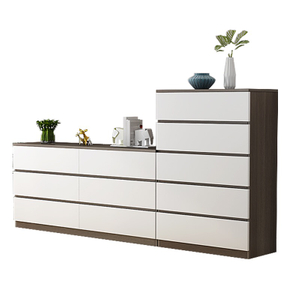 Modern Home 3 Drawers Wooden Melamine Laminated Bedroom Furniture Set Side Living Room Cabinet