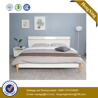 New MModern Baby Furniture Wooden Hospital Bedroom Hotel Furniture King Double Queen Size Beds with Nighstand