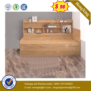 Modern School Melamine Bedroom Furniture wood Laminated cabinets Children kids Bed