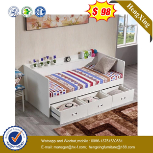 Wood Kindergarten Kids single Bed Children Nursery School Furniture with Drawer Cabinet