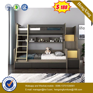 Wooden Home Bedroom Drawer Cabinet Children Single Kids bunk double Bed baby Furniture
