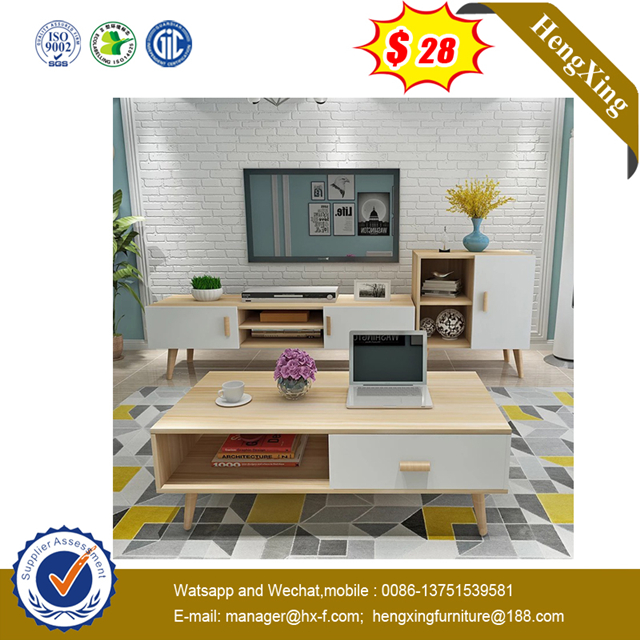 fashion Modern Living Room furniture TV stand MDF Coffee Table with Drawers