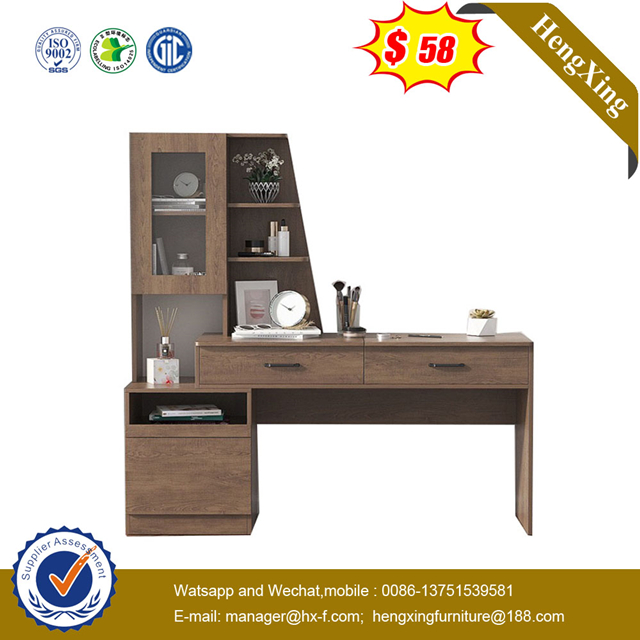 Good Quality Home Hotel Furniture book shelf Wooden Study Desk Kids Reading Table with Bookcase