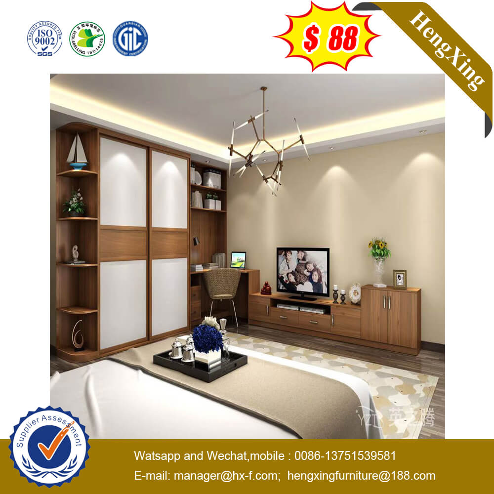 Economical Corner Single Wardrobe Hotel Bedroom Furniture Closet With Shoe Cabinet