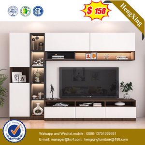 Modern Wooden Livingroom Furniture Set Wall Unit TV Cabinet TV Stand Coffee Table Bookcase