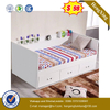 Simple Modern Minimalist School Home Bedroom Furniture Rack Single Storage Bunk Children Kids Bed with Mattress