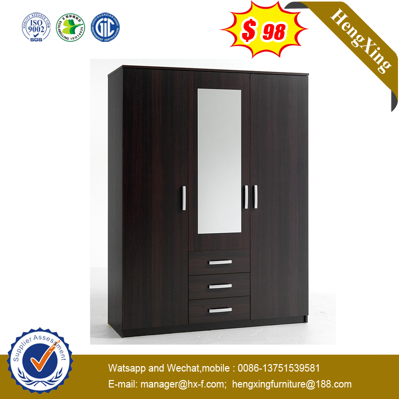 Luxury Modern Style Wood Wardrobe Mirror Door Wardrobe Cabinet