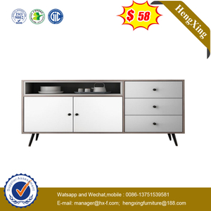 Home High Quality White Painted Drawer Cabinet Furniture Storage Cabinet