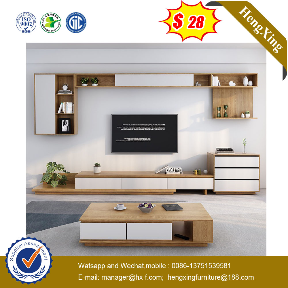 Nordic Living Room Furniture Cheap Classic Modern Wooden TV Stand Cabinet
