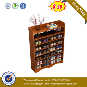 Space Saving Brown Wood Color Living Room Furniture 8 Shelf Shoes Rack Shoe Storage Cabinet