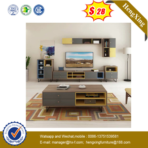 Good Quality Melamine Green Wooden TV Stands Furniture Side Table Set livingroom cabinets