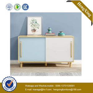 Home Furniture Set Mixed Color Shelf Hot Sell Fashion Wooden Storage Cabinet