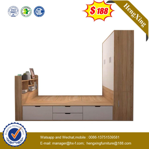 Chinese Factory Wooden MDF Children home Bedroom Furniture wardrobe Single Kids Bunk Bed