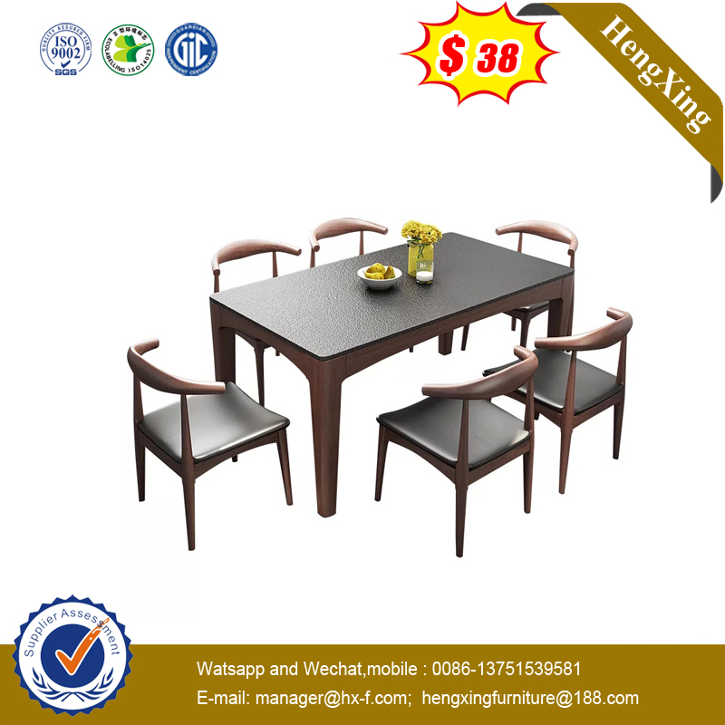 Coffee Shop Furniture Natural White Wood Marble Round Dining Table