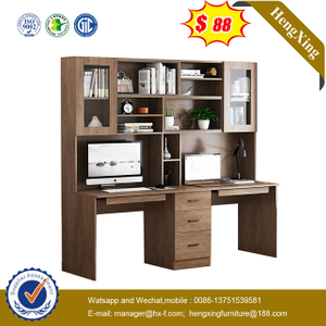 Factory Popular wood Home Furniture Laptop Stands Office Desk Study Table with book shelf