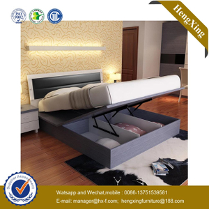 Wholesale Classic Design MDF Wooden Hotel Bedroom Set Furniture Queen Size Bedroom King Double soft Bed