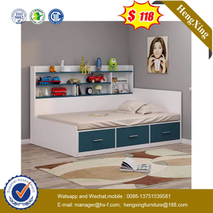 home School Bedroom MFC MDF Wooden Furniture Wardrobe Cabinet Children Single Kids Bed
