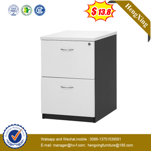 Colorful Office Use 2 Drawer Under Table Filing Cabinet Wood Storage Fixed Pedestal